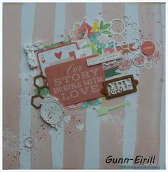 Gunn-Eirill`s Paper Magic: Pink Layout whith Kaisercraft