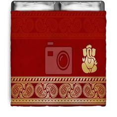 Hindu Red Paisley Comforter at http://www.visionbedding.com/hindu-wedding-card-india-queen-full-comforter-p-3093442.html