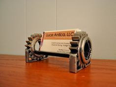 Industrial Design Business Card Holder Made From by luceantica, $37.99