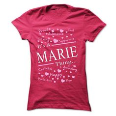 Its A MARIE Thing - #golf tee #sweatshirt style. ORDER NOW => https://www.sunfrog.com/Names/Its-A-MARIE-Thing-40701720-Ladies.html?68278