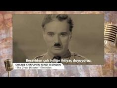 Charlie Chaplin'in kendi sesinden | Tele1 TV - YouTube