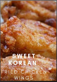 KFC has nothing on this KFC (Korean Fried Chicken). The reason these are so delicious and crispy is because unlike the typical buttermilk drenched thick flour breading they are dusted with a cornstarch/flour mixture (no liquid) and double-fried. Breaded Chicken Wings, Chinese Chicken Wings, Korean Fried Chicken, Fried Chicken Recipes, Best Chicken Wings Recipe Fried, Chinese Wings, Fried Chicken Drumsticks, Buttermilk Fried Chicken, Chicken Bacon