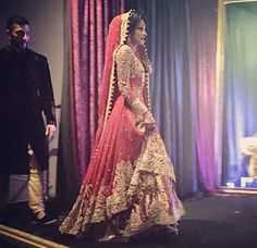 The fitting of the dress Walima Dress, Pakistani Wedding Dresses, Pakistani Bridal, Pakistani Outfits, Bridal Lehenga, Indian Dresses, Indian Outfits, Wedding Lehnga, Wedding Gowns