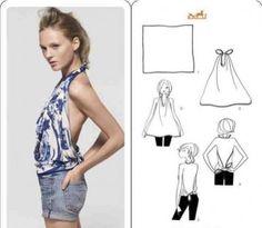 Comment nouer et faire un dos nu avec un foulard ? #PrincesseFoulard #soie http://www.princessefoulard.com/blog/porter/occasion/top-foulard-dos-nu/ - Board lesfoulards/nouer-et-porter-un-foulard