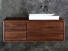 Waschtischunterschrank holz hängend  waschtischunterschrank holz hängend - Google-Suche | Bad ...
