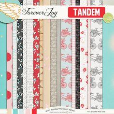 Digital Scrapbooking Kit - TANDEM | ForeverJoy Designs