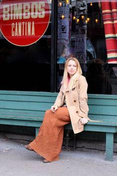 Polka dots outside Bimbos Cantina Capitol Hill Style, Seattle Street, Fashion Photo, Style Fashion, The Outsiders, Duster Coat, Polka Dots, Street Style, Emerald City