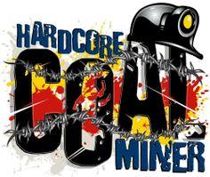 "3 - Hard Core Coal Miner Hard Hat Stickers by Earl Ferguson ""Sons of Coal"" H574"
