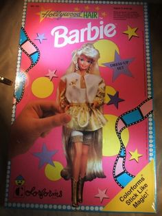 Barbie Hollywood Hair 1991 Colorforms New Great Gift Idea | eBay