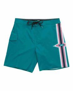 YYG Mens Stripe Print Drawstring Quick-Dry Loose Fit Beach Shorts Boardshorts Swim Trunks