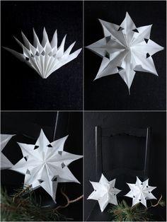 DIY – Hvězdy z papírových sáčku   VINTAGELOVER.CZ