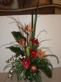 Custom order for open house tropical arrangement by kyong