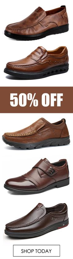 Leather fashion casual business shoes oxfords flats. #mens