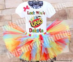 Uno Birthday Tutu Outfit | Uno Birthday Party | Uno Themed Birthday | Uno First Birthday | First Birthday Party Ideas | Birthday Party Ideas for Girls | Birthday Party Ideas for Boys | Twistin Twirlin Tutus #unobirthday