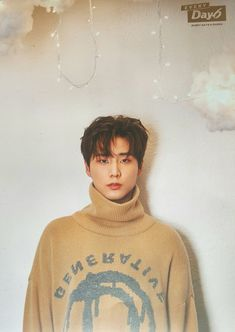 Brian and his beautiful brown sweater Young K Day6, Stray Kids Chan, Kim Wonpil, Cha Eun Woo, Kpop Boy, Saranghae, Boyfriend Material, K Idols, Photo Book