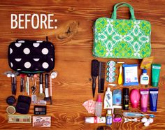 Learn not just how to pack toiletries and makeup for travel, but also how to pack less, and only bring your essential toiletries on your next trip.