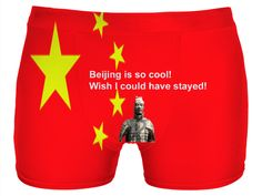 """Custom Underwear: Your personal statement """"Wish I could have stayed!"""" proves: You've been to Beijing, you travel the world, you know what is cool!! Bed Duvet cover, shower curtain, Sweatshirt, Hoodie, Yoga Pants, Joggers, Leggings, Phone Case, Beach Towel, Tank Top, Crop Top, T-Shirt,  underwear, swim shorts, Bandana, Onesie, couch pillow, pillowcase, Classic T-Shirt, OMG, BFF, Christmas, birthday, Valentine's day, poster, Easter, Pin, Pinterest,"""