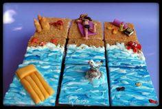 Summer beach cupcakes
