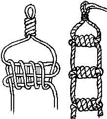 How to make a rope ladder . How to make a rope ladder More How to make a rope ladder Survival Knots, Survival Prepping, Survival Skills, Camping Survival, Survival Gear, The Knot, Rope Ladder, Diy Ladder, Rope Knots