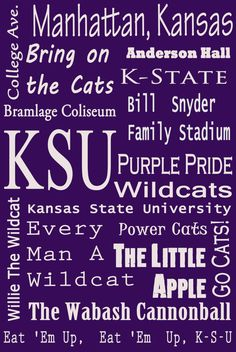 cute K-State subway art on etsy. $20