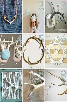Link Love: DIY Antlers - Free tutorials for diy home decor with deer antlers