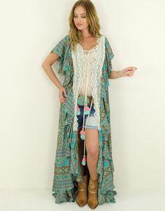 Kimono Morena Ibiza Fashion, Kimono Top, Style, Fashion Styles, Swag, Outfits