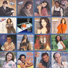 Capas de LPs das novelas da Rede Globo ( 1995 a 1999 )