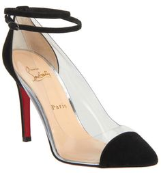 Christian Louboutin Unbout Illusion Transparent PVC pointed toe pumps with suede cap toe