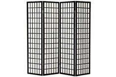 MajorQ black4panels1 Decoration Japanese Oriental Style Room Screen Divider Black -- Click on the image for additional details. Note:It is Affiliate Link to Amazon.