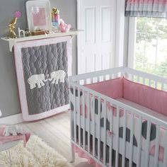Not sure how you feel about the elephants but I thought the pink and different shades of grey are cute!!