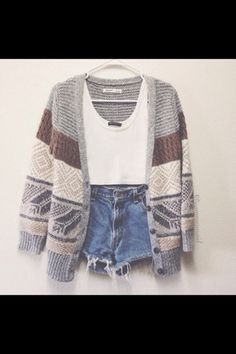 jacket knitted cardigan knitwear aztec coat top shorts sweater indie oversized cardigan tank top blue shorts high waisted shorts cardigan crop tops white shirt cute outfits summer outfits brown stripe gray cardigan neutrals cute style outfit winter outfits denim shorts ripped shorts clothes girl cute shorts short shorts denim boho hippie bohemian boho chic cut offs cut off shorts distressed denim shorts ripped distressed denim distressed shorts nitted cartigan fall outfits hipster grey warm…