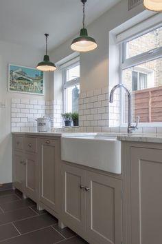 Galley kitchen run of cabinets