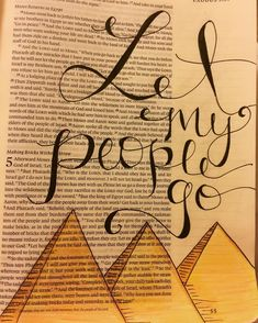 Let my people go #Exodus5 #illustratedfaith #biblejournaling #biblejournalingcommunity by meadowsbiblejournaling