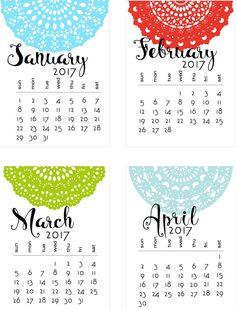 50+ 2017 FREE printable calendars