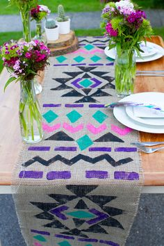 Simple DIY Aztec Table Runner. Love.