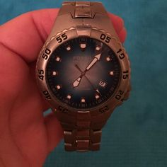 Fossil watch Fossil blue watch / waterproof 200 meters / used but still great condition / needs new battery Fossil Accessories Watches