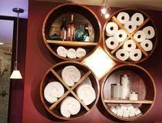 Bathroom Towel Storage Ideas – 14 Smart and Easy Ways-- crochet thread?