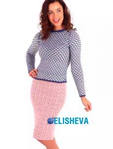 Летняя ажурная миди-юбка от Sian Brown вязаная спицами | Блог elisheva.ru