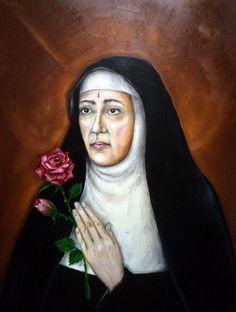 Sancta Rita,oil on canvas by Kamila Guzal-Pośrednik