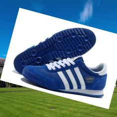 Dark-Blue And White Adidas Dragon Womens Trainers,HOT SALE!