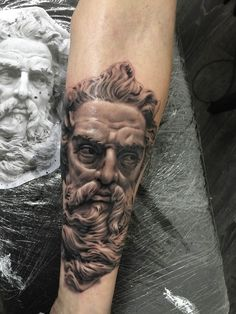 Zeus by my amazing son, Ash Higham at Rapture Tattoo Studio