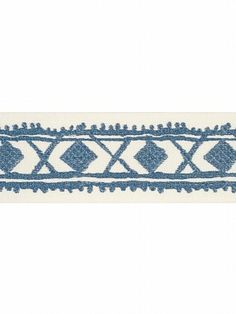DecoratorsBest - Detail1 - Fbc 4613302 - Diamond Stitch - Aegean - Trim - DecoratorsBest