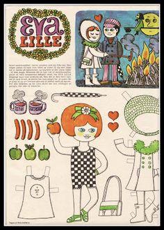 Ingrids Påklædningsdukker: Lille Eva