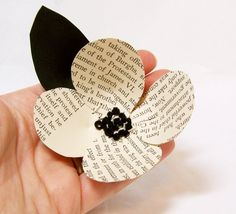 old book page flower