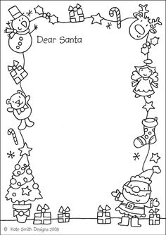 Letter to santa this one is fun because you can color it too santa letters 10 free printable letters to santa spiritdancerdesigns Images