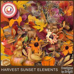 Digital Art :: Element Packs :: Harvest sunset elements