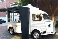 Ath, Le food truck d'Olivier Cardon - Wallonie Citroen Type H, Citroen H Van, Prosecco Van, Catering Van, Food Vans, Antique Trucks, Coffee Truck, Market Stalls, Street Food