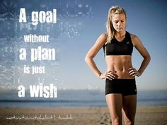 Set your goals for the week today! Happy Monday :)