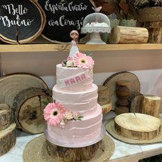 tarta buttercream paleteada rosa deco de flores