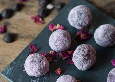 So enchantingly elegant: Rose-infused chocolate truffles. #food #roses #chocolate #truffles #wedding